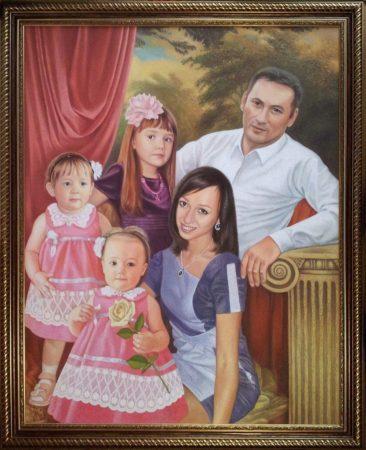 Семейный портрет маслом в Брянске — правильная традиция…