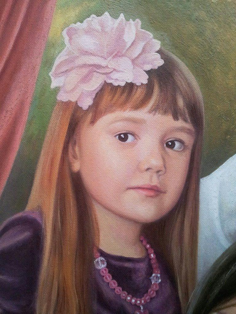 Семейный портрет на холсте Брянск