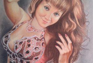 Портрет пастелью жене