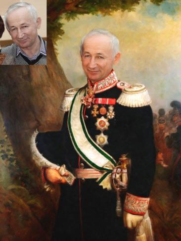 Где заказать исторический портрет по фото на холсте в Брянске?