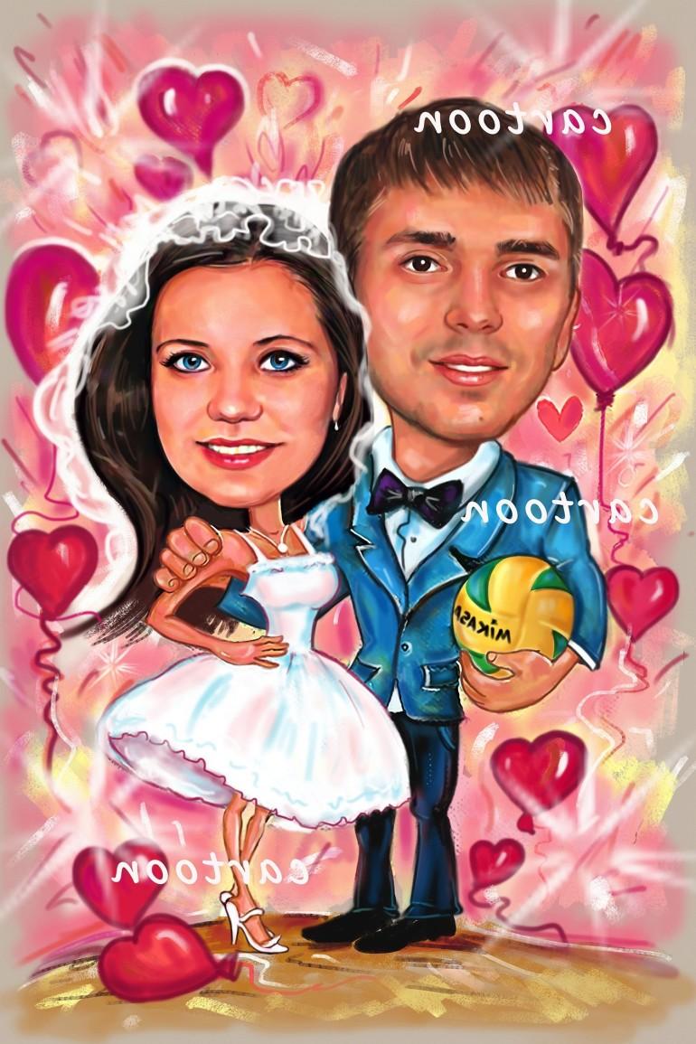 Свадебный шарж с оригинальным сюжетом в Брянске!