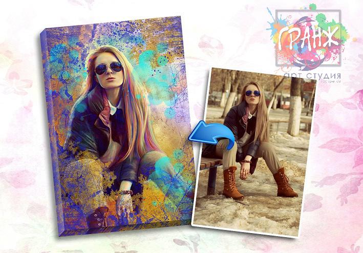 Портрет по фото на заказ в честь 8 марта в Брянске