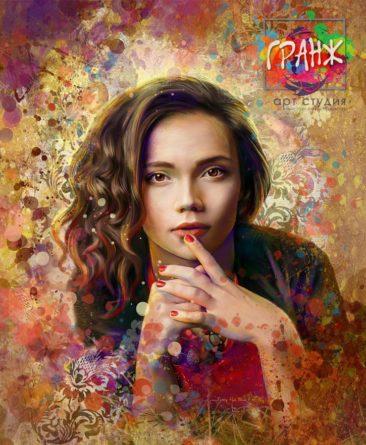 Портрет по фото, подарок на 14 февраля заказать Брянск