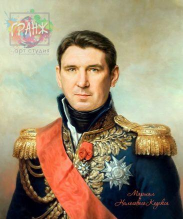 Портрет по фото на холсте в подарок мужчине на 23 февраля Брянск