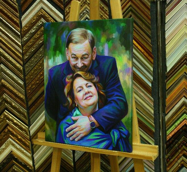Портрет подарок родителям