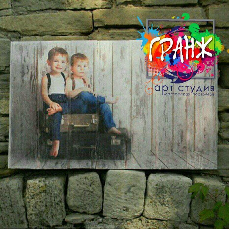 Картины на досках и портреты на дереве в стиле лофт