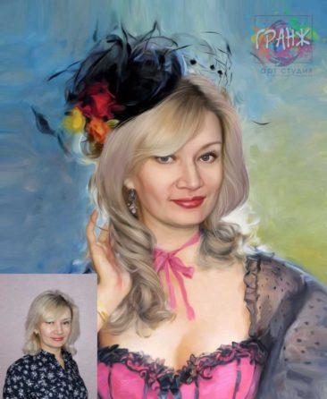 Заказать арт портрет по фото на холсте в Брянске