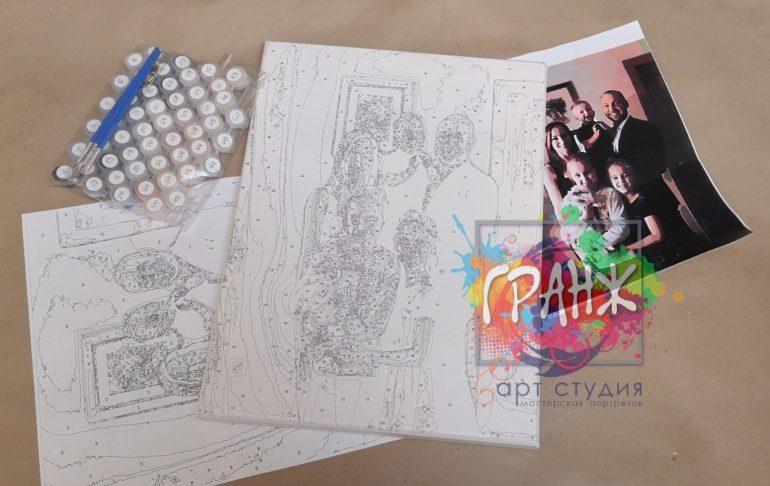Картина по номерам по фото, портреты на холсте и дереве в Брянске